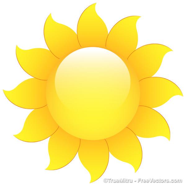 600x600 Download Free Sun Vector Icon Vector Illustration