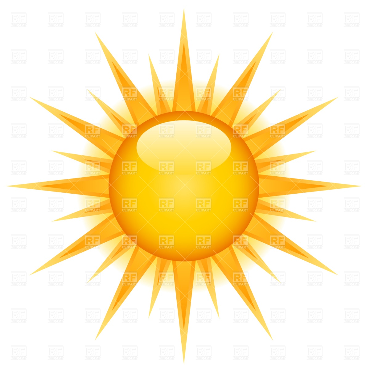 1200x1200 Glossy Sun Icon Vector Image Vector Artwork Of Icons And Emblems