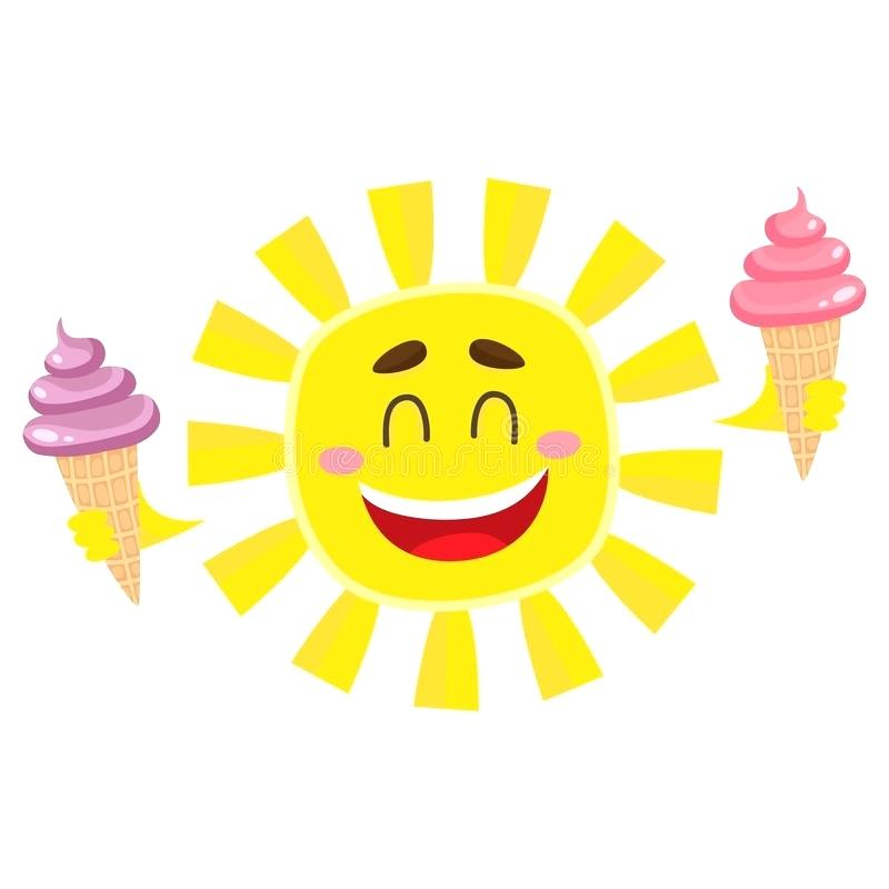 800x800 Happy Sun Clip Art Download Smiling Happy Sun Holding Ice Cream