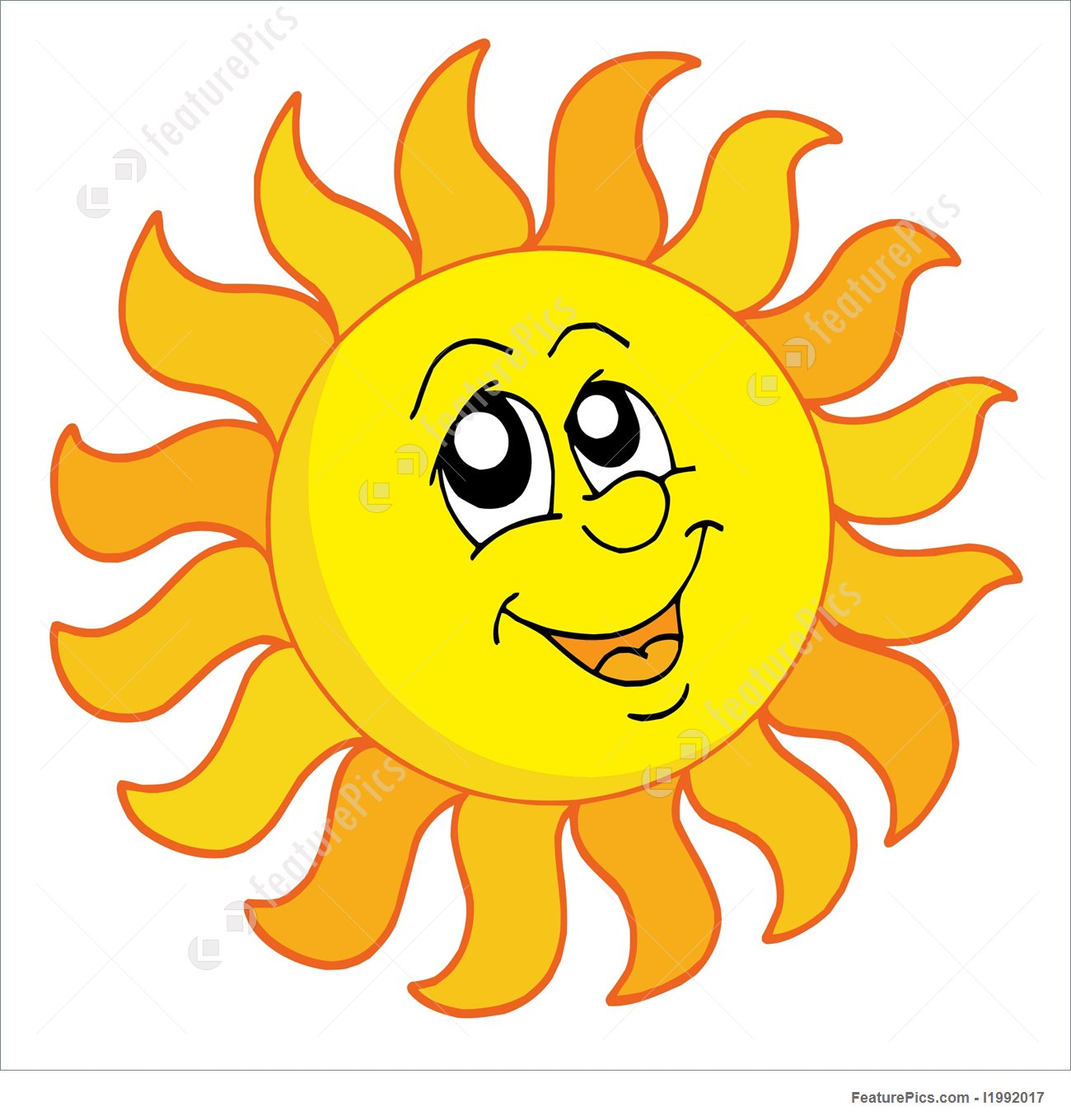 1300x1360 Happy Sun Vector