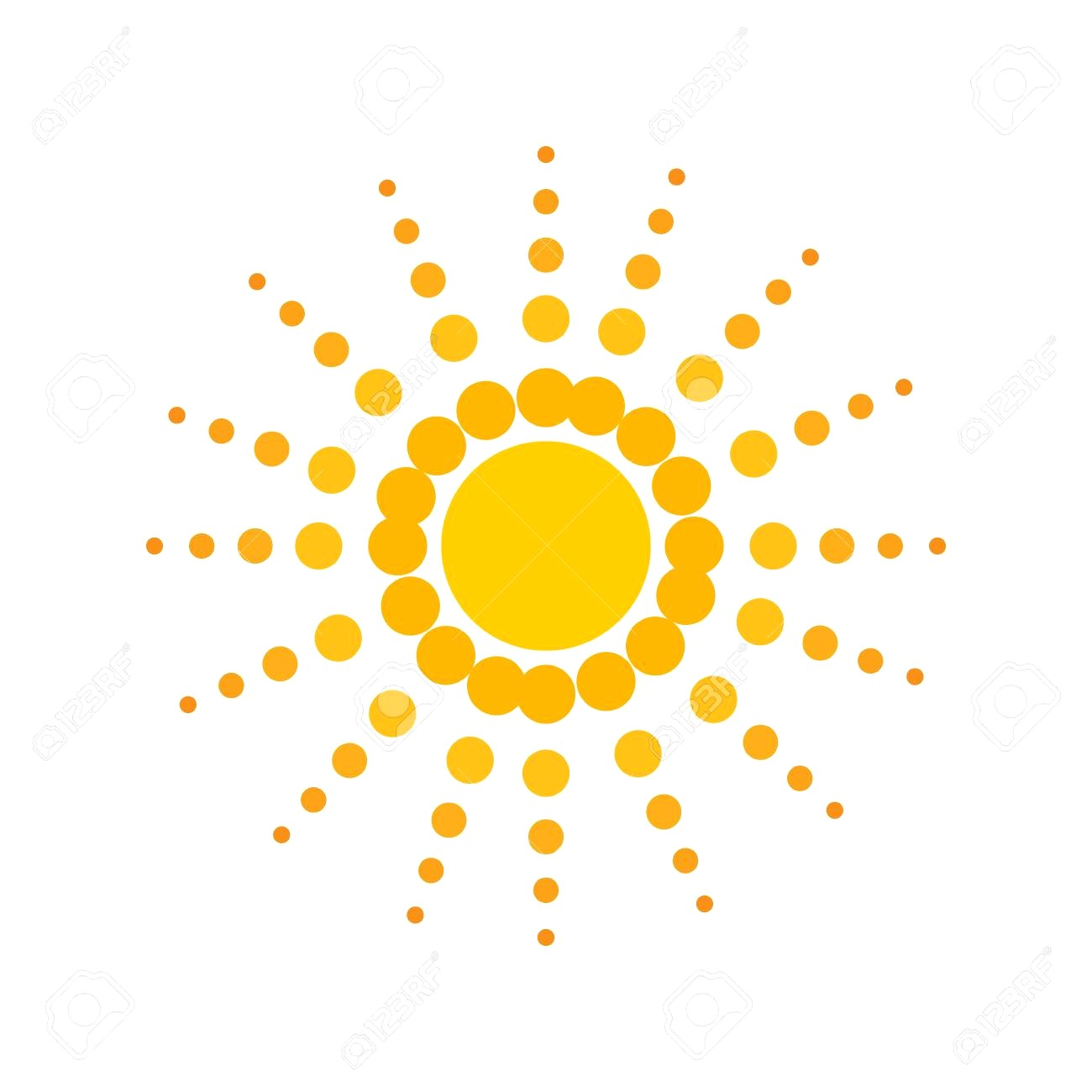 1300x1300 60829150 Sunny Sun Abstract Sunshine Icon Isolated And Flat