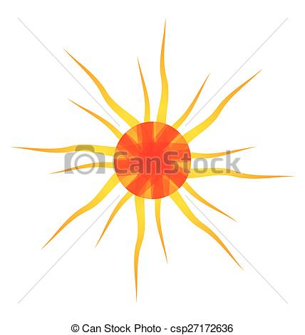 428x470 Artistic Orange Sun Illustration With White Background.