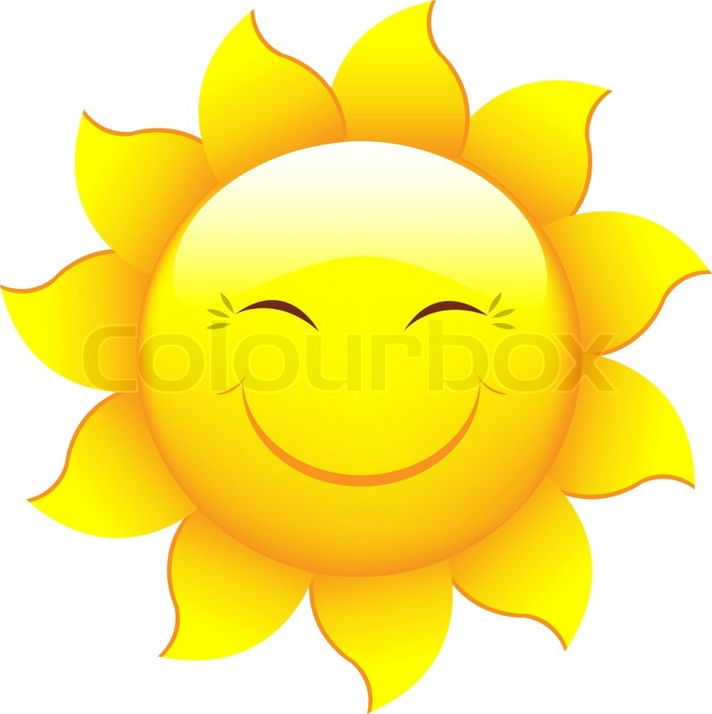 797x800 Cartoon Sun Characters, Isolated On White Background, Vector