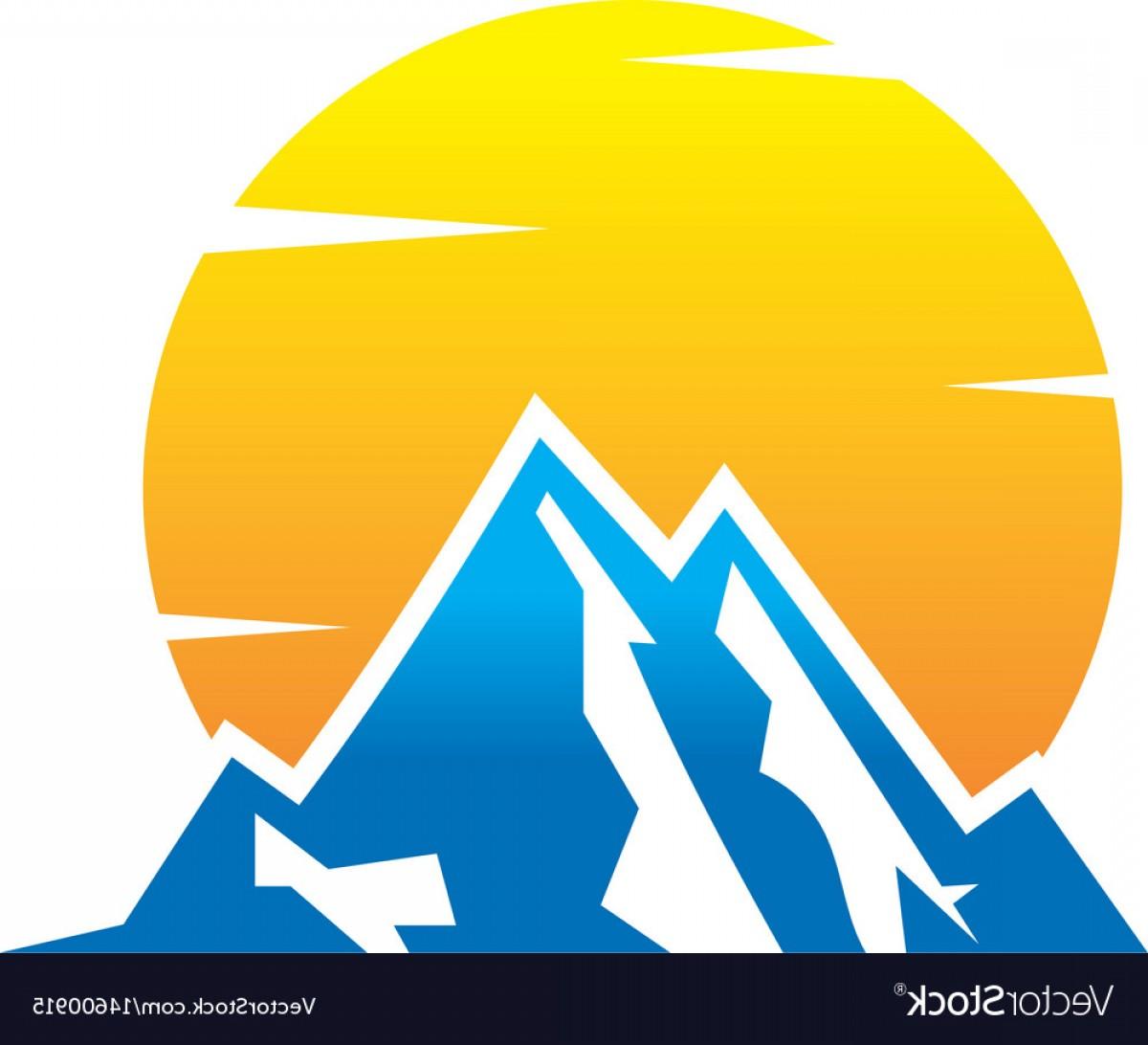 1200x1092 Mountain And Sun Logo Design Vector Shopatcloth