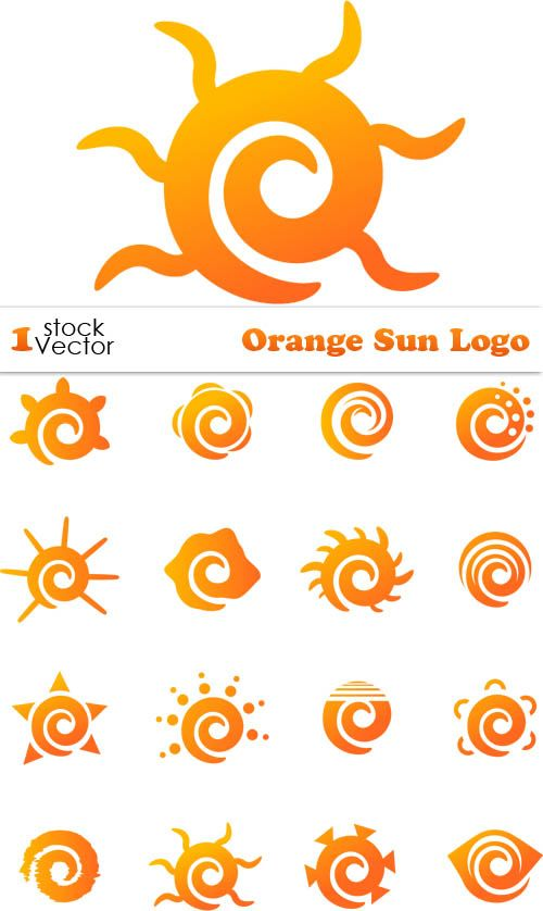 500x838 Orange Sun Logo Vector Logos Logos And Vector Vector
