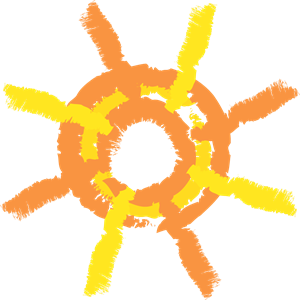 300x300 Painted Sun Logo Vector (.eps) Free Download