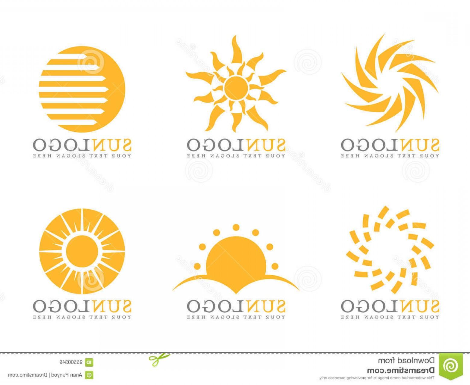 1560x1278 Stock Illustration Orange Sun Logo Vector Art Set Design Image