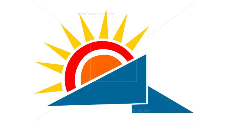 800x431 Sun Logo Vector Free Vectors, Illustrations, Graphics, Clipart