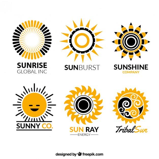 626x626 Sun Logos Collection Free Vectors Ui Download