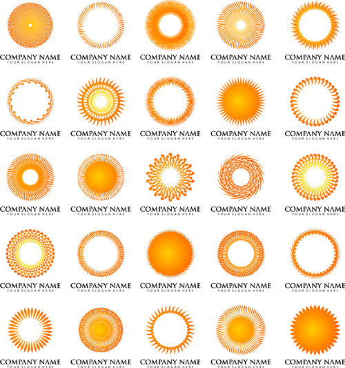 500x533 Sun With Company Logos Vector Design Free Download