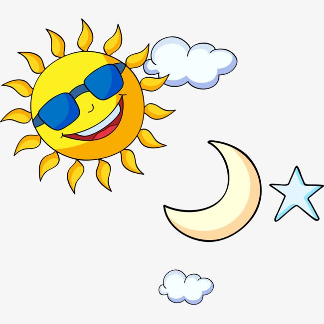 650x651 Creative Cartoon Sun Moon Stars, Cartoon Vector, Sun Vector, Moon