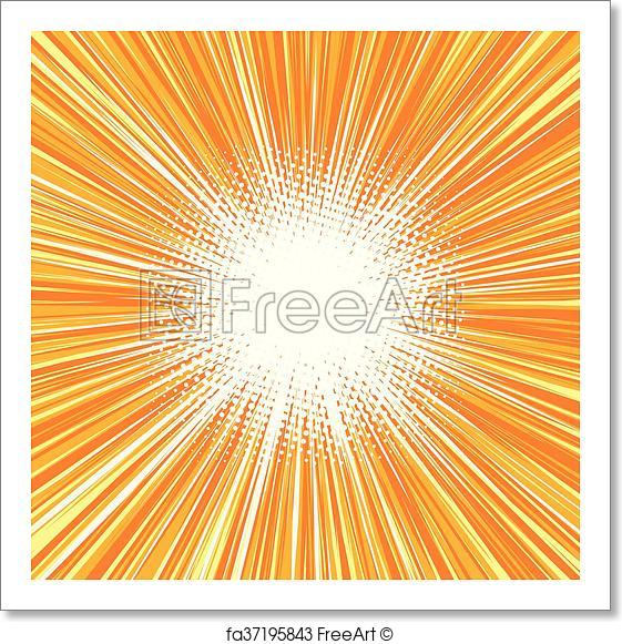 561x581 Free Art Print Of Bright Burst Background Retro Comic Pop Art
