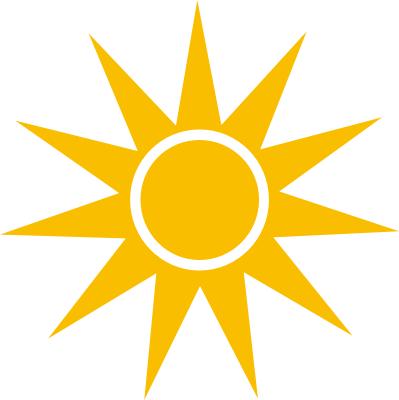 399x400 Sun Rays Vector Png Sharp Orange Clipart