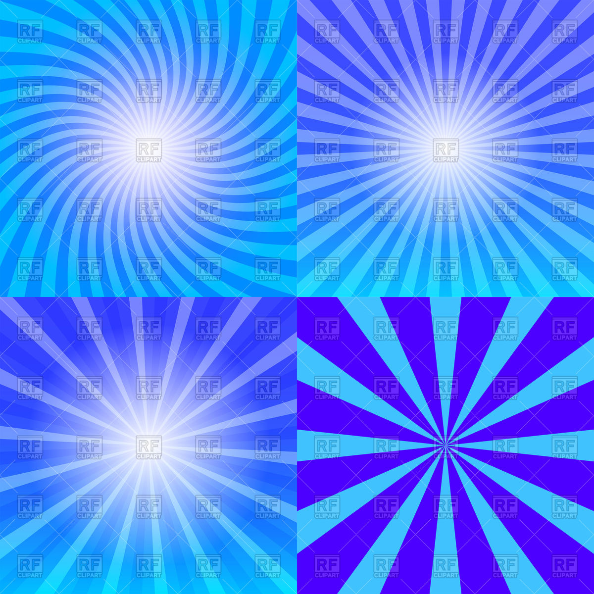 1200x1200 Sunray Background With Blue Sun Rays Vector Image Vector Artwork