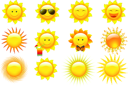 500x343 Elements Of Summer Sun Vector Art 02 Free Download