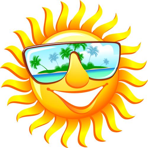 500x500 Elements Of Summer Sun Vector Art 03 Free Download