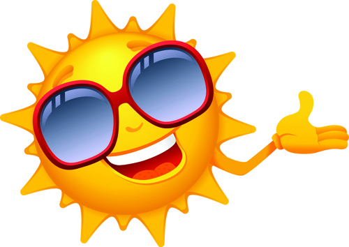 500x354 Elements Of Summer Sun Vector Art Free Vector In Encapsulated