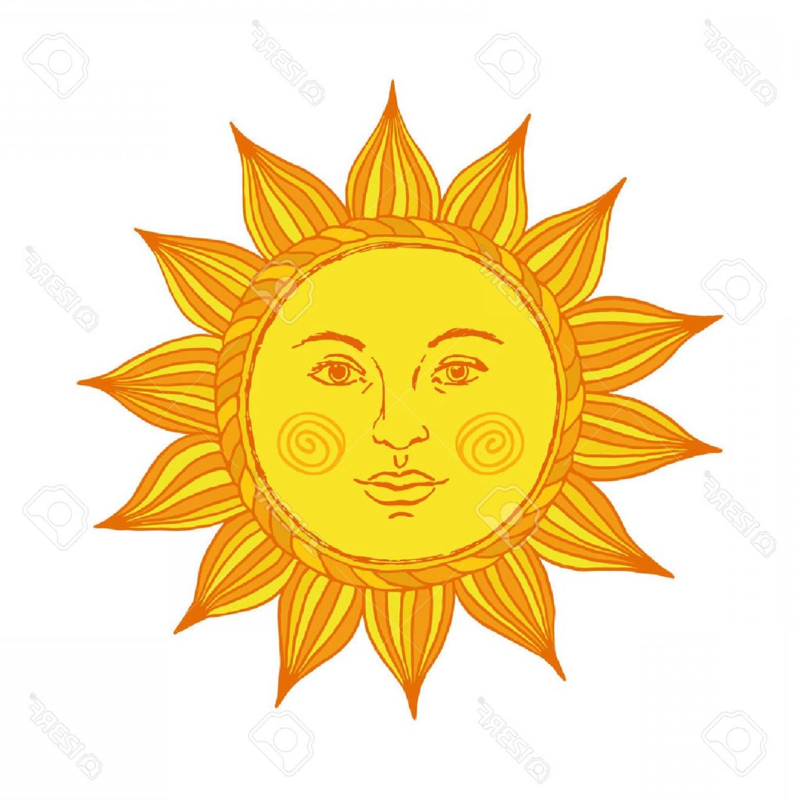 1560x1560 Photostock Vector Hand Drawn Sun With Face And Eyes Alchemy