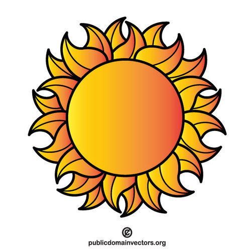 500x500 Planet Sun Vector Clip Art Public Domain Vectors