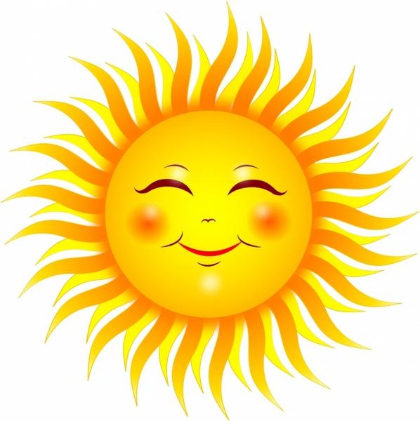 598x600 Smiling Sun Free Vector In Adobe Illustrator Ai ( .ai
