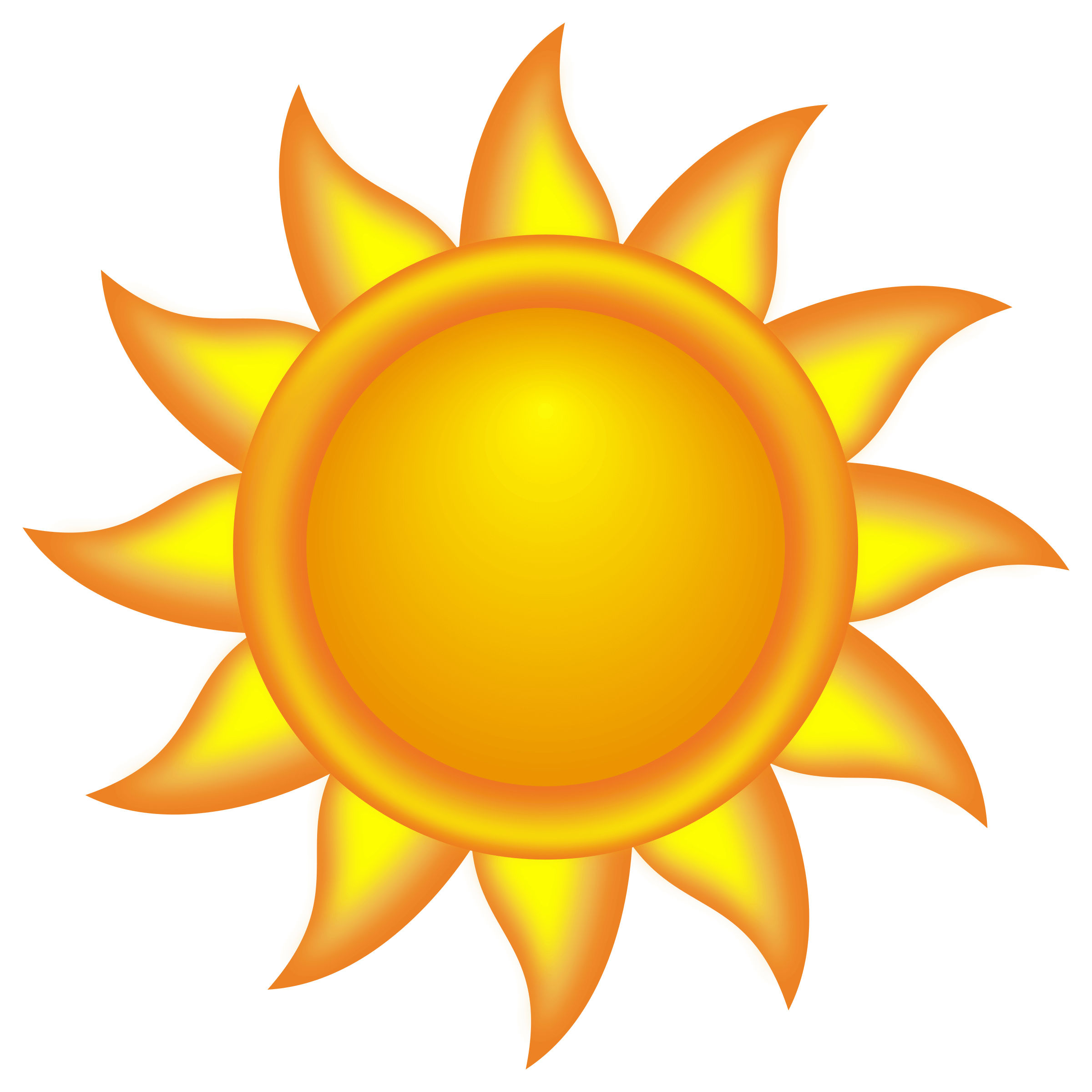 2400x2400 Cartoon Sun Vector Art