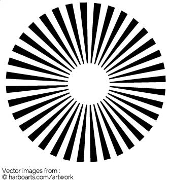 Sun Vector Black And White