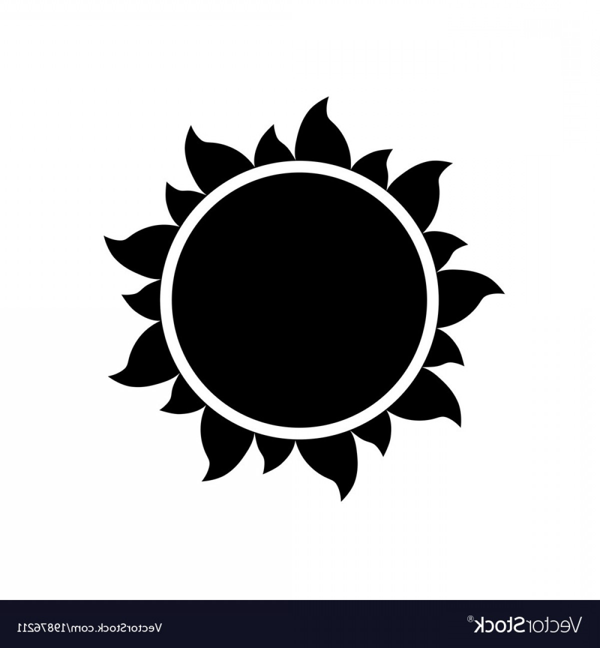 1200x1296 Simple Sun Icon On White Background Vector Rongholland