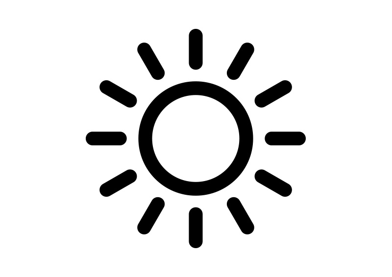800x566 Black Simple Sun Icon