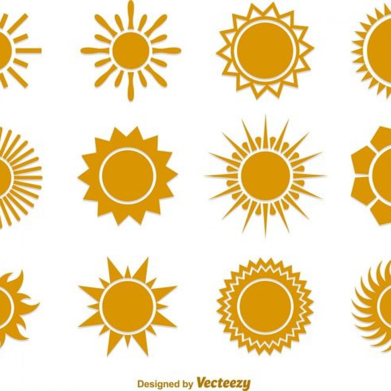 1170x1170 Free Vector Summer Sun Vector Flat Icons