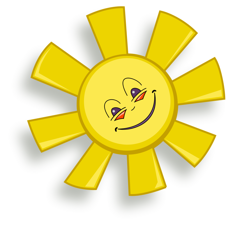 800x779 Happy Sun Free Vector 4vector