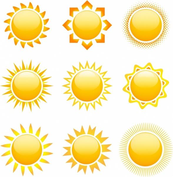 588x600 Original Sun Designs Free Vector In Adobe Illustrator Ai ( .ai
