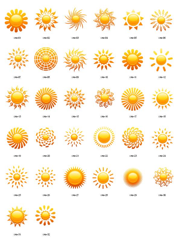 600x800 Sun Designs Sun Icons Design Elements 04 I N K Sunshine Vector