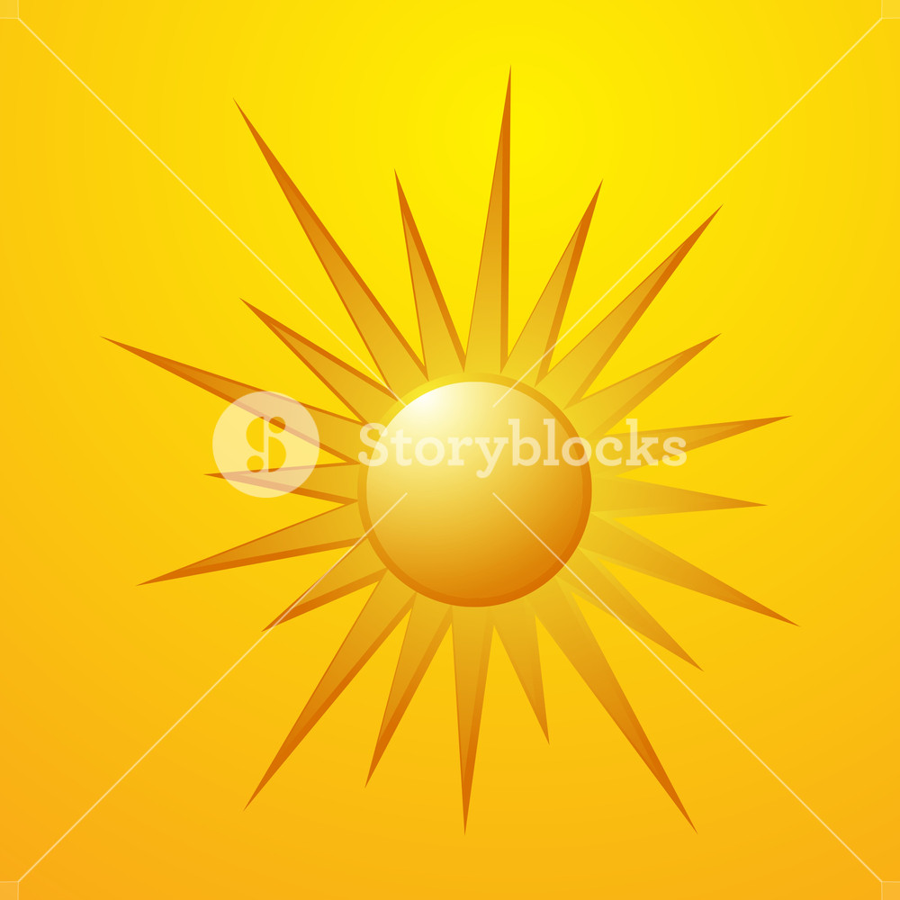 1000x1000 Sun Vector Design Royalty Free Stock Image