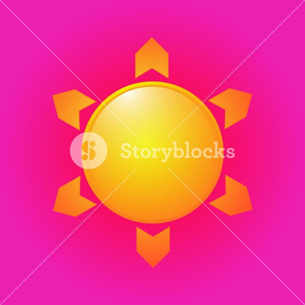 1000x1000 Sun Vector Icon Design Royalty Free Stock Image