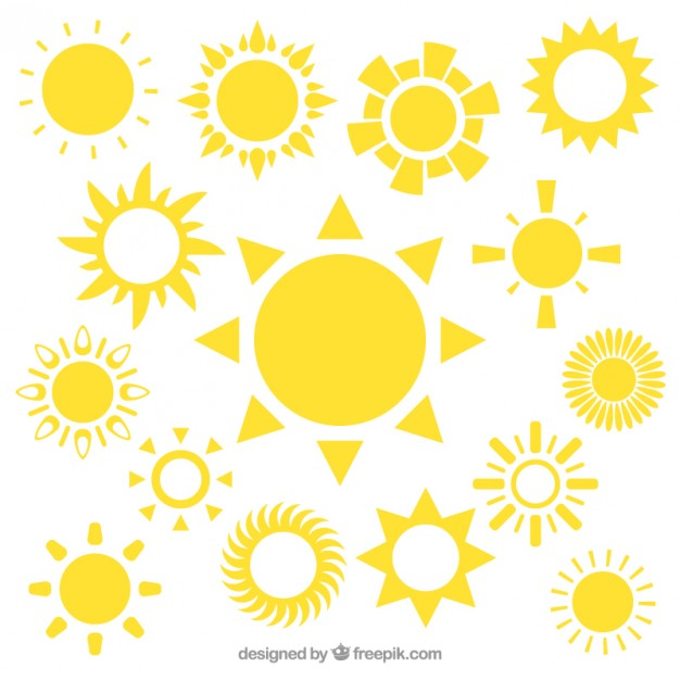 626x626 Yellow Sun Icons Vector Free Download