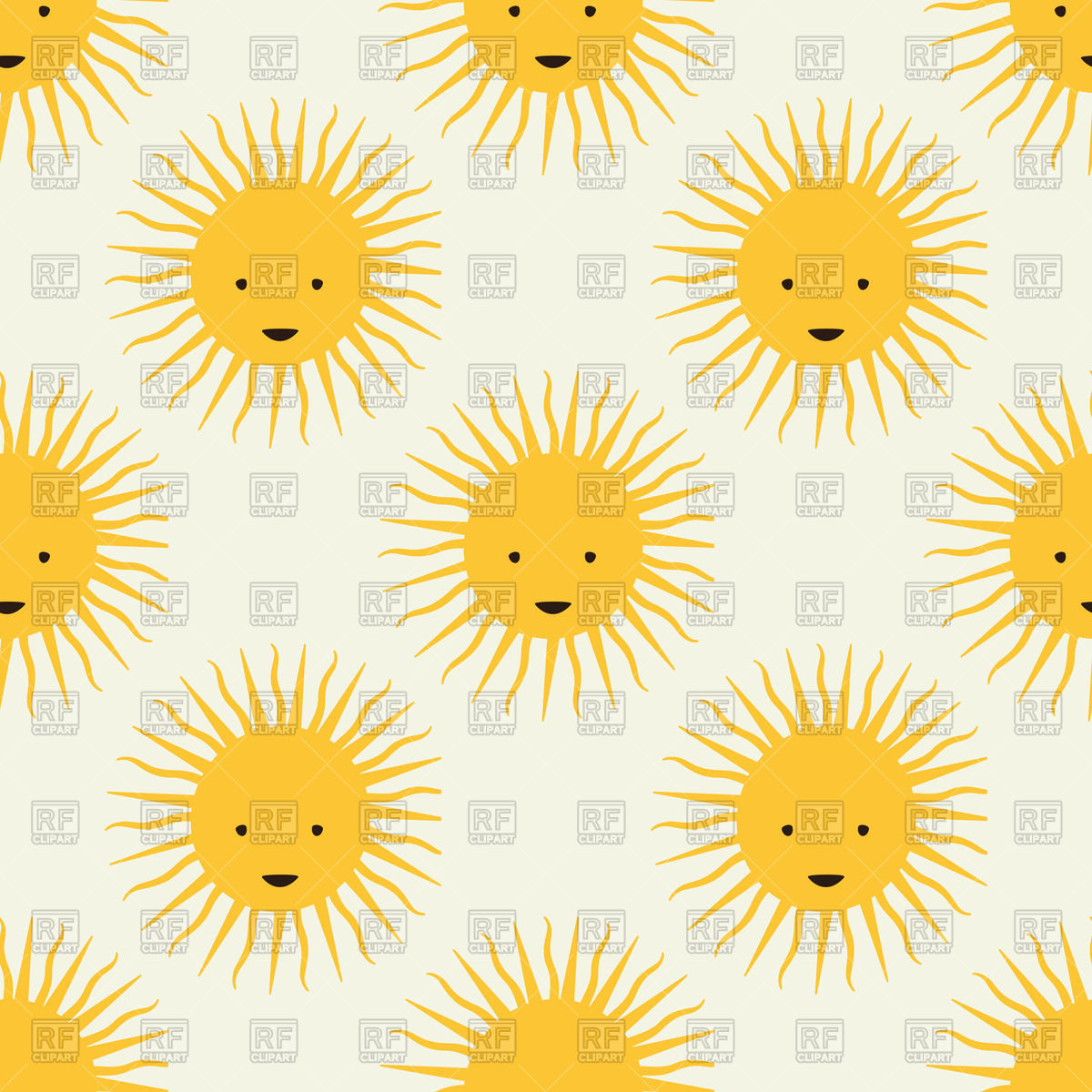 1200x1200 Childish Seamless Pattern With Cartoon Sun Vector Image Vector