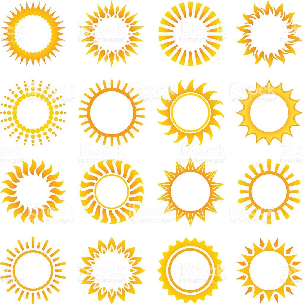 1022x1024 Collection Of Vector Sun Designs Royalty Free Cliparts, Vectors