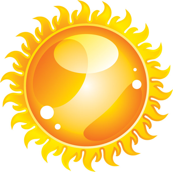 600x598 Lovely Sun Vector Material 2 Free Download Web