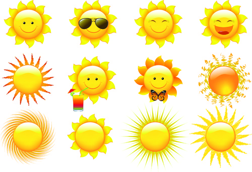 500x343 Summer Sun Free Vector Download (4,115 Free Vector) For Commercial