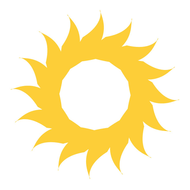 660x660 Sun Vector Design Free Download