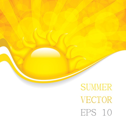 499x499 Cartoon Summer Sun Vector Background 01 Free Vectors Ui Download