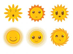 310x233 Cute Cartoon Sun Vector Free Vectors Ui Download