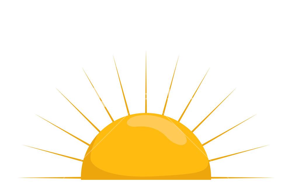 1000x660 Sun Vector Royalty Free Stock Image