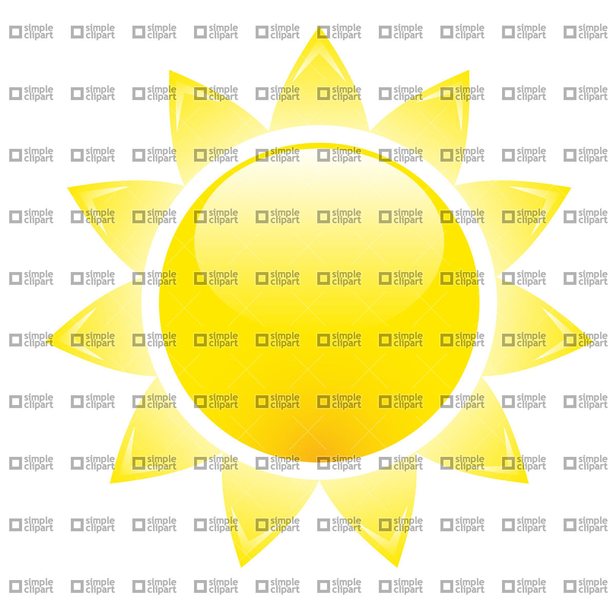 1200x1200 Glossy Sun Vector Image