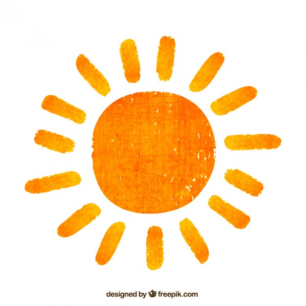 626x626 Hand Painted Sun Vector Free Download
