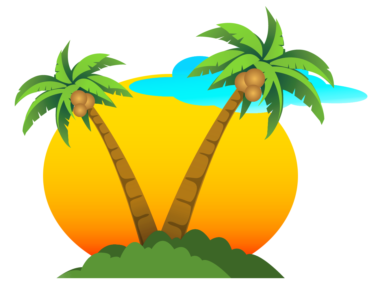 1308x997 Palms And Sun Png Vector Clipartu200b Gallery Yopriceville