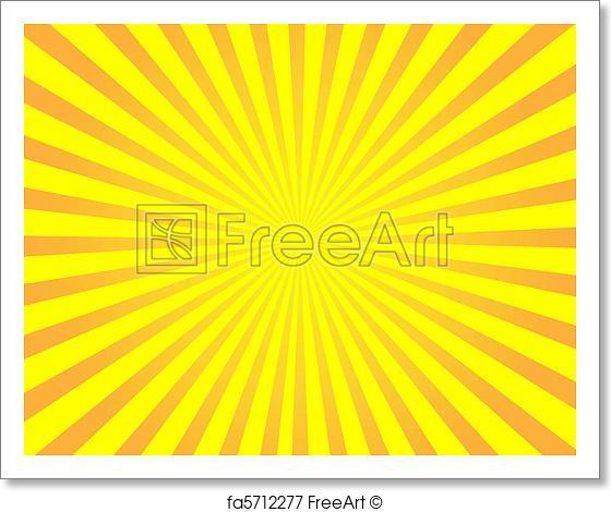 560x470 Free Art Print Of Orange Vector Sunburst Background. Orange Vector