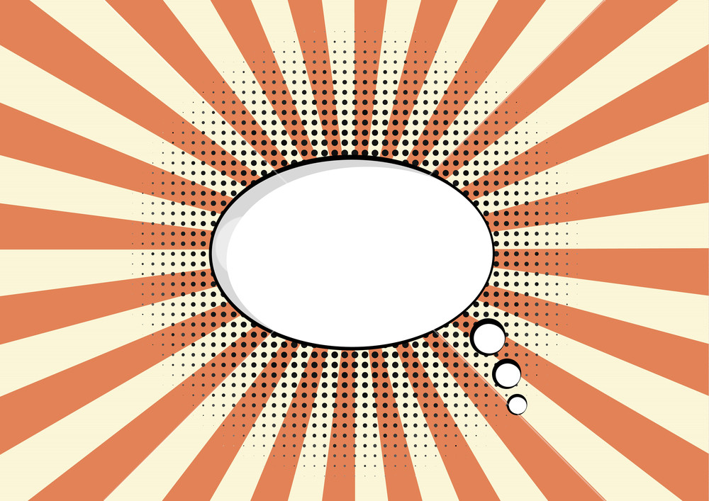 1000x707 Cartoon Speech Pop Art Bubble Haltone Communication Sunburst