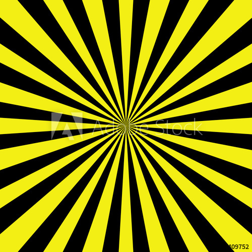 500x500 Danger Pop Art Vintage Sunburst Background. Vector Illustration