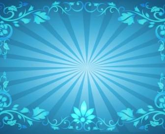 336x273 Flower Frame Sunburst Background Background Vector Art